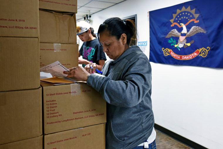 Image: North Dakota voting