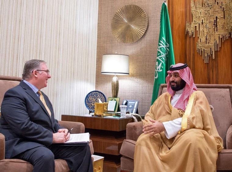 Image: Saudi Crown Prince Mohammed bin Salman meets Joel Rosenberg in Riyadh, Saudi Arabia