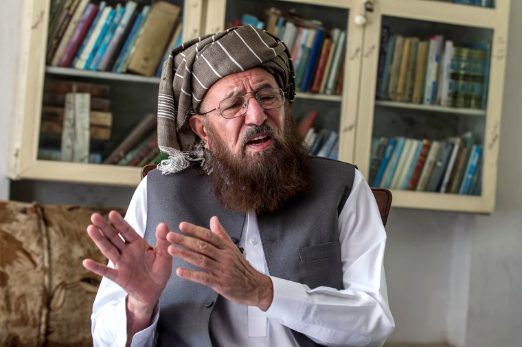 Image: FILE PHOTO: Maulana Sami-ul Haq, a Pakistani cleric and head of Darul Uloom Haqqania talks during an interview with Reuters, at his house in Akora Khattak