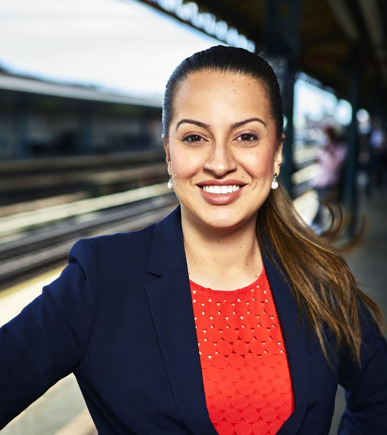 Catalina Cruz, democratic candidate running for assembly in New York.