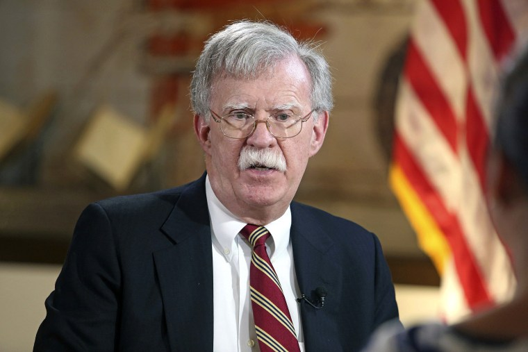 Image: United States National Security Adviser John Bolton talks to the Miami Herald  on Latin American policy at the National Historic Landmark Miami Freedom Tower on Nov. 1, 2018.