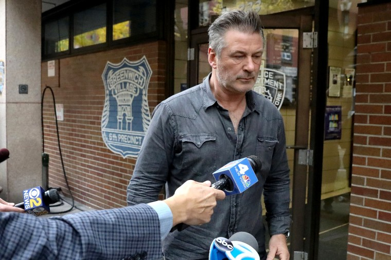 Image: Actor Baldwin exits the 6th precinct of the New York Police Department in Manhattan, New York