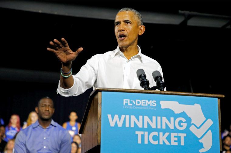 Image: Obama campaigns for Democrats in Miami