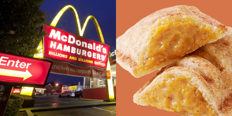 McDonald's limited edition pumpkin pie