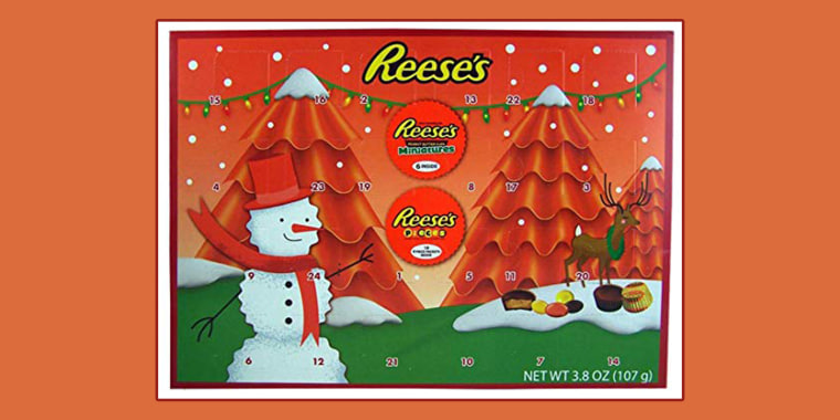 Reese S Advent Calendar Is All We Want For Christmas It 24 Days Of Chocolate And Peanut Er