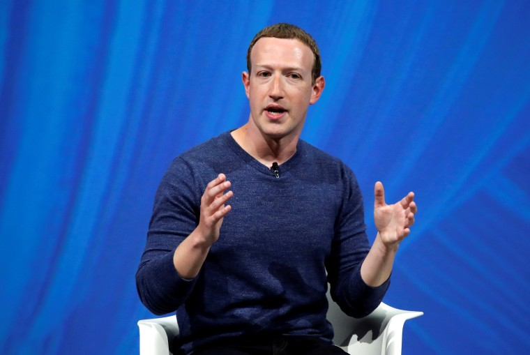 Image: Facebook's founder and CEO Mark Zuckerberg speaks at the Viva Tech start-up and technology summit in Paris