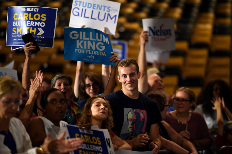 Image: Supporters at a Get Out the Vote rally at the University of Central Florida