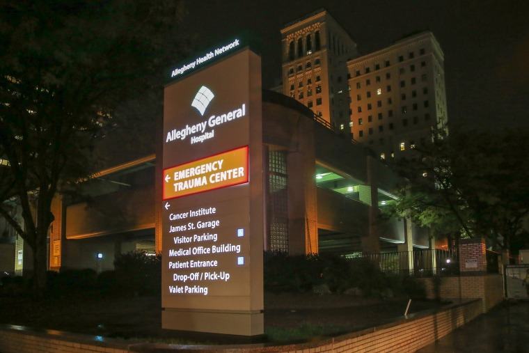 Image: Entrance to the Emergency Trauma Center at Allegheny General Hospital