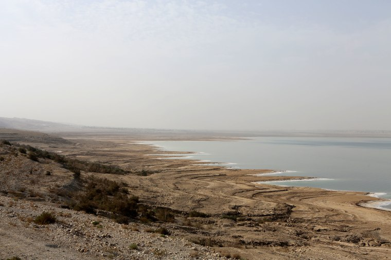 Image: The southern end of the Dead Sea in Jordan