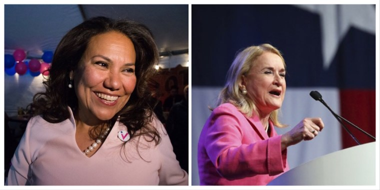 Veronica Escobar (left) and Sylvia Garcia (right).