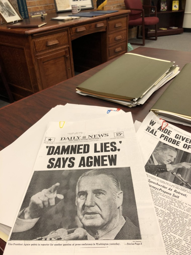 'Damned Lies,' says Agnew Daily News front page