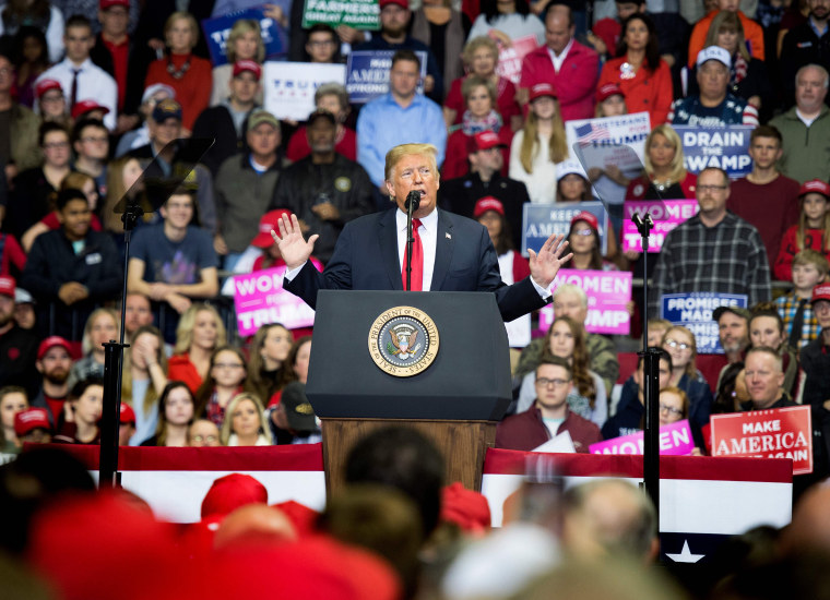 Image: President Donald Trump speaks at a rally in Fort Wayne, Indiana