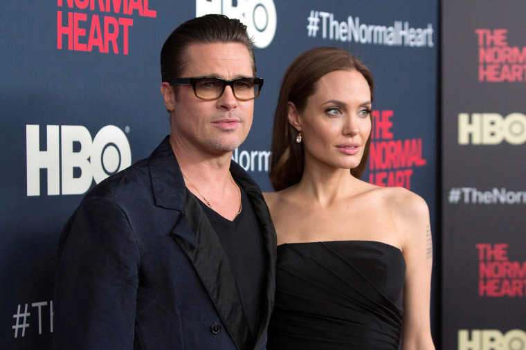 Image: Brad Pitt and Angelina Jolie attend the premiere of The Normal Heart in New York