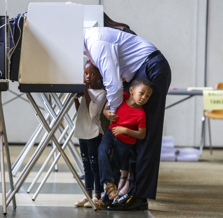 Image: FL Gubernatorial Candidate Andrew Gillum Casts His Vote In Midterm Election