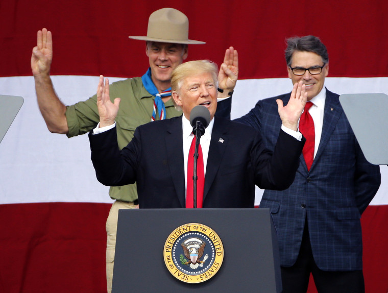 Donald Trump, Rick Perry, Ryan Zinke