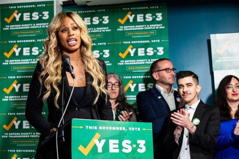 Image: Laverne Cox Attends A Press Conference In Support Of Yes On 3