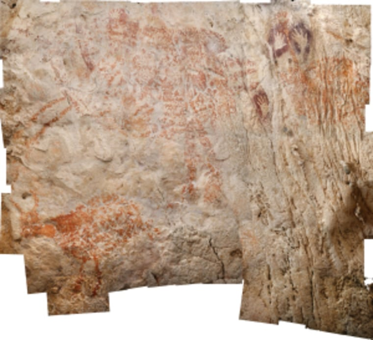 The world's oldest figurative artwork from Borneo dated to a minimum of 40,000 years