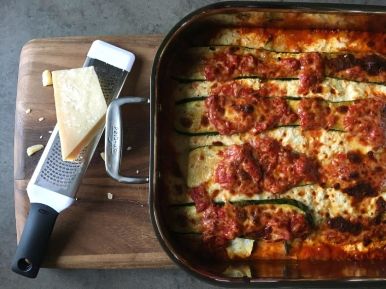 Grilled Zucchini Lasagna with Vodka Sauce