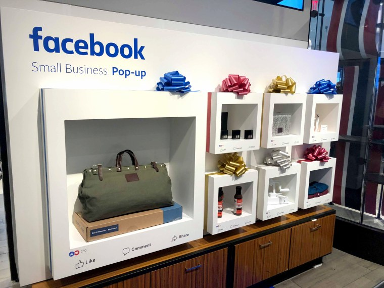 Facebook has partnered with Macy's to create pop-up shops inside select locations this holiday season.