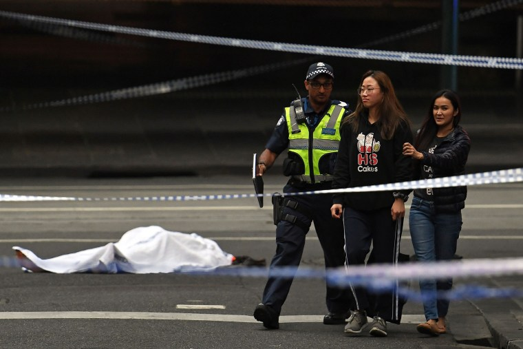 melbourne australia knife attacker stabs three in busy street