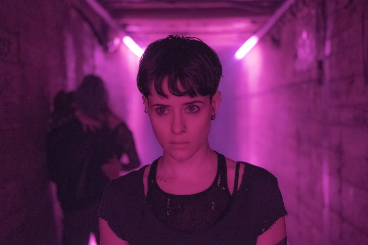 "Lisbeth Salander (Claire Foy) confronts a villain close to home in ""The Girl in the Spider's Web."""