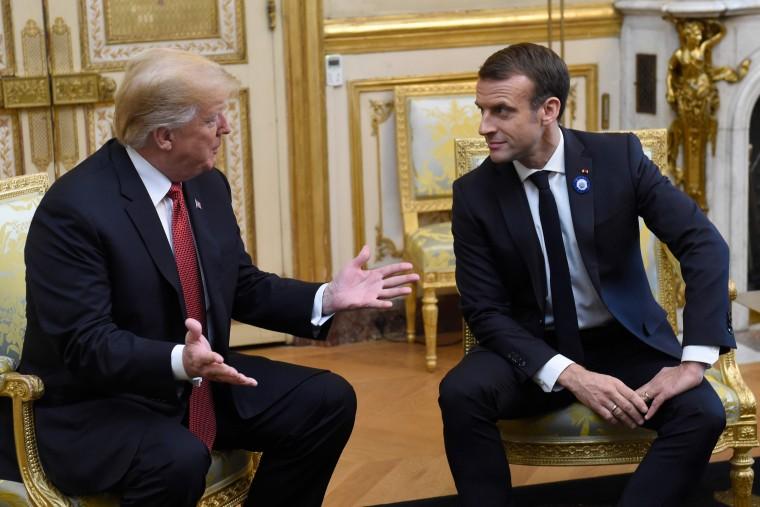 Image: FRANCE-US-DIPLOMACY-WWI-POLITICS-HISTORY-CENTENARY