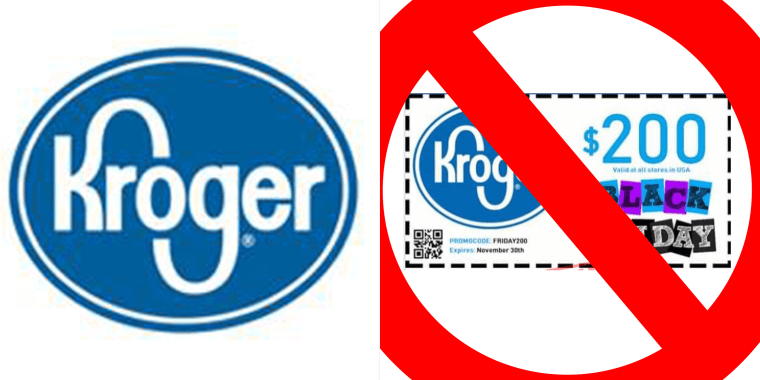 Watch out for this $200 Kroger Black Friday coupon — it's a scam