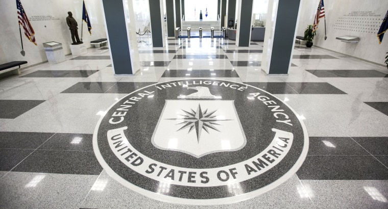 Image: The CIA headquarters entrance.