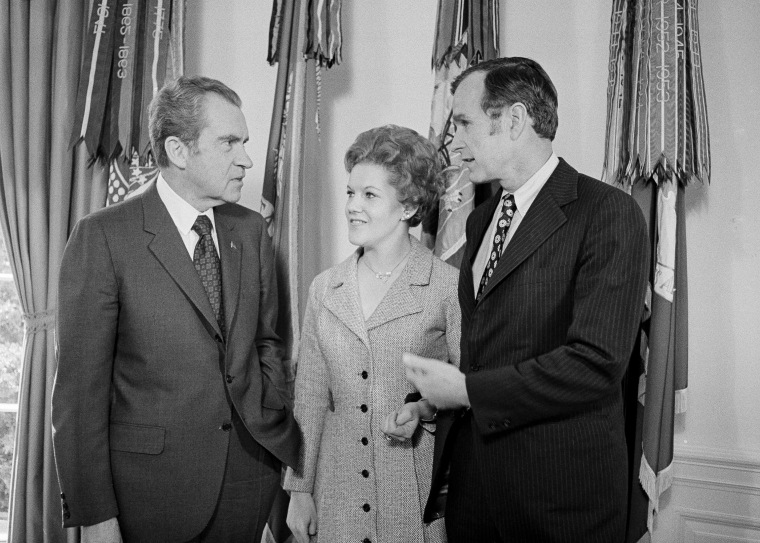 Richard Nixon, George H.W. Bush, George Bush, Janet Johnston