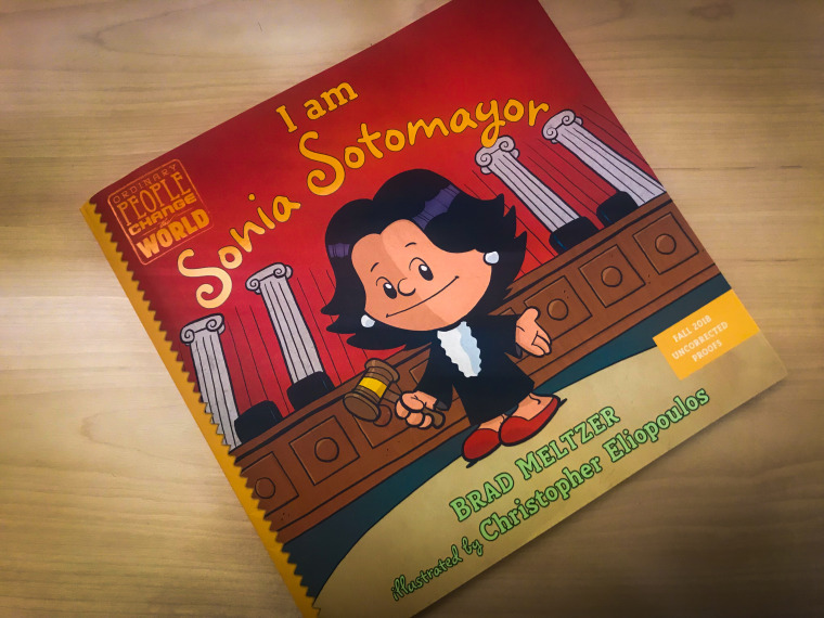 "Cover page of Brad Meltzer's ""I am Sonia Sotomayor"" which is part of the picture book series titled Ordinary People Change the World."
