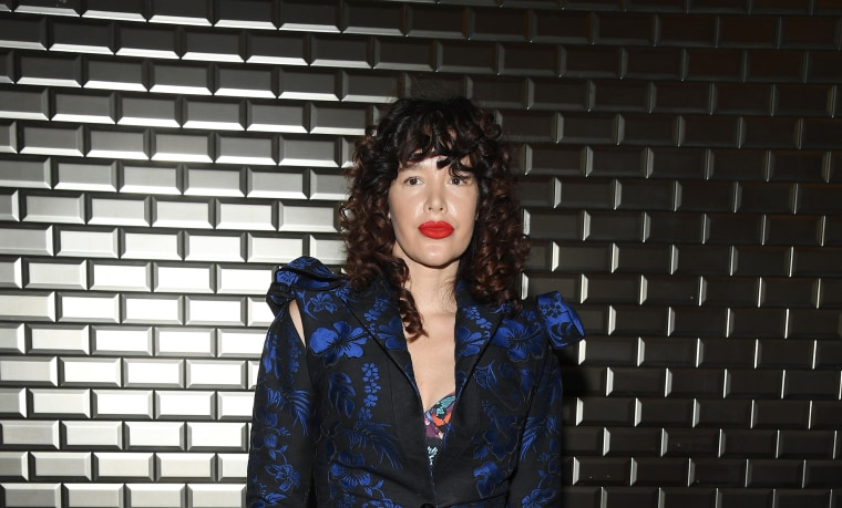 Paz de la Huerta attends the Jean-Paul Gaultier Haute Couture Fall Winter 2018/2019 show as part of Paris Fashion Week on July 4, 2018.