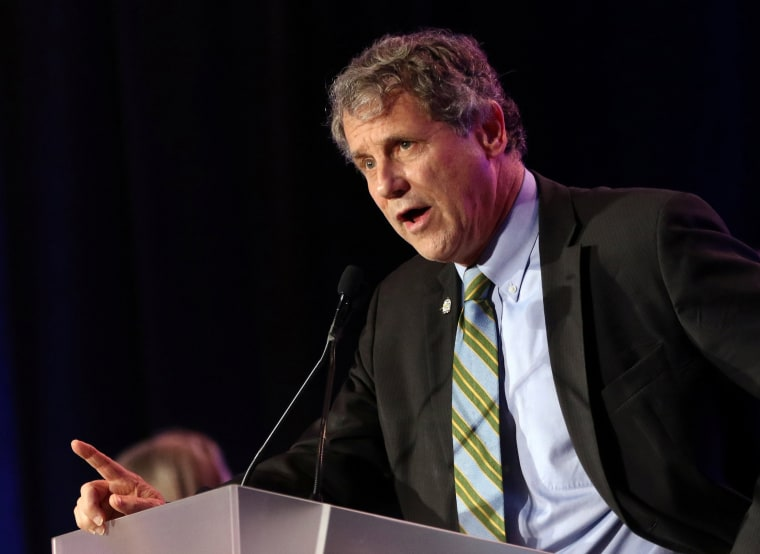 Image: U.S. Senator Sherrod Brown speaks at his election night party in Columbus