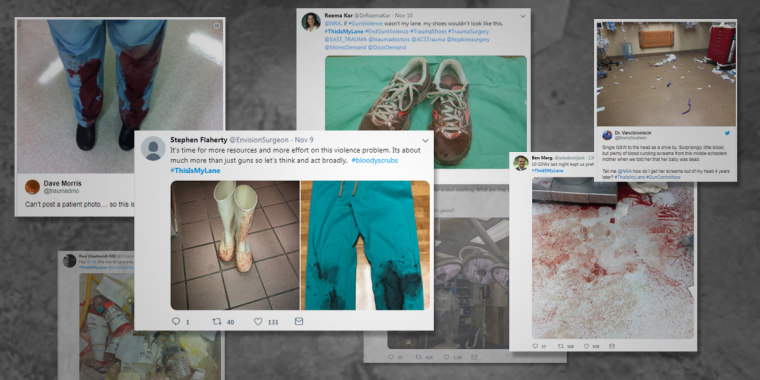 Responding to the NRA, medical professionals created a viral hashtag, #ThisISMyLane.