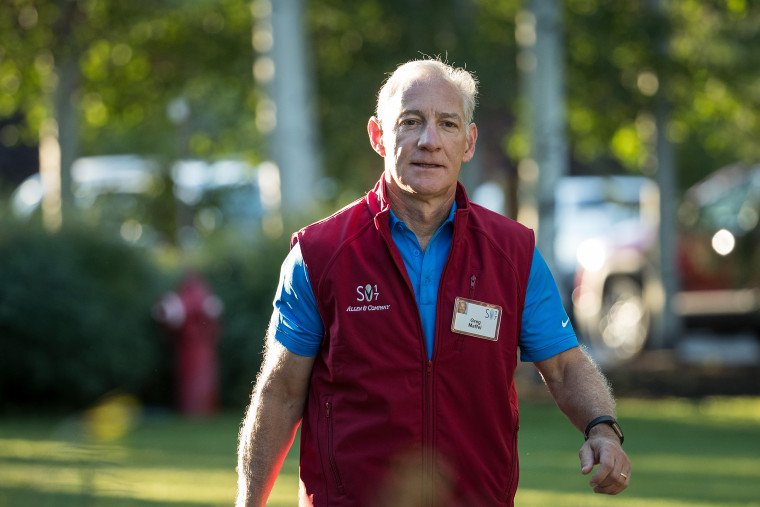 Greg Maffei, chief executive officer of Liberty Media Corporation, arrives at the annual Allen and Company Sun Valley Conference