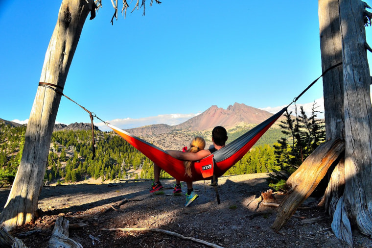 All the outdoor enthusiast on your list needs to kick back and relax in nature is this ENO hammock and two trees — which your purchase will help plant.