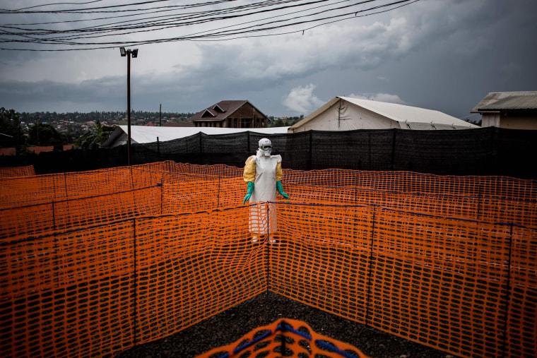 Image: TOPSHOT-DRCONGO-EPIDEMIC-HEALTH-EBOLA