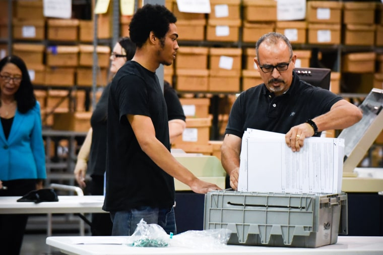 Palm Beach County election officials prepare to recount ballots in West Palm Beach