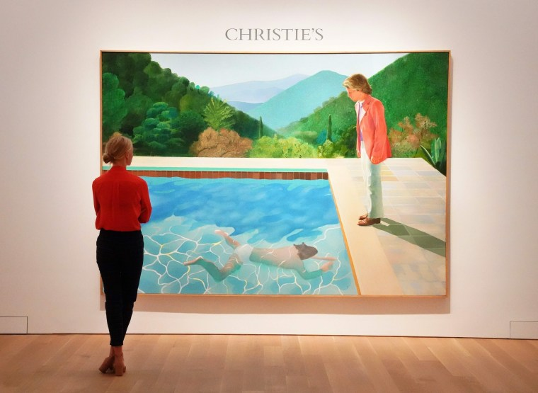 "Image: David Hockney's ""Portrait of an Artist (Pool with Two Figures)"""