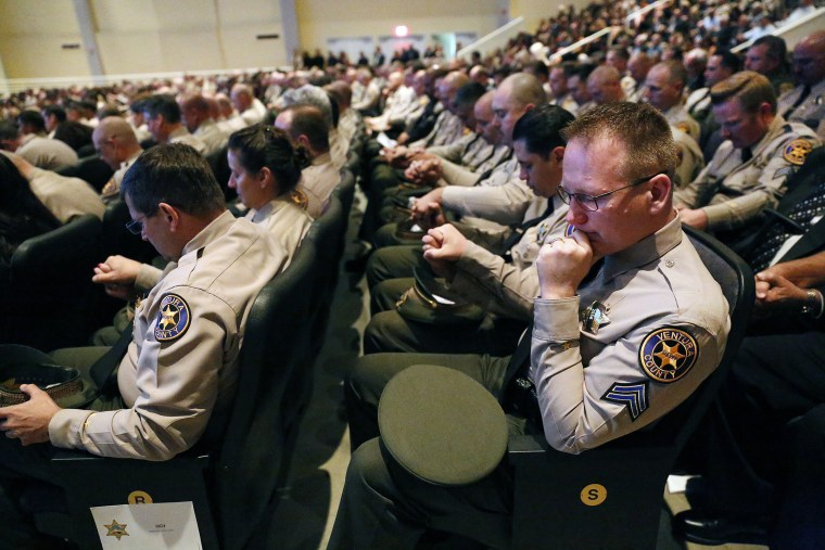 Image: Funeral Held For Sheriff's Deputy Killed In Borderline Mass Shooting