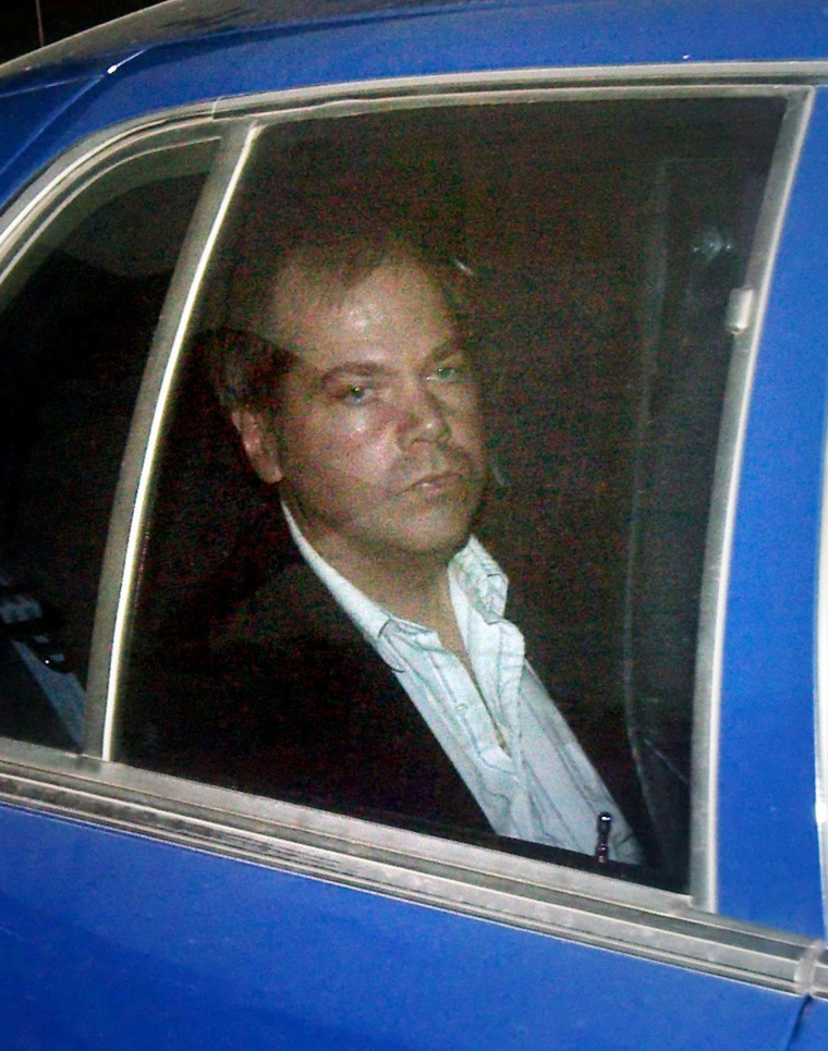 Image: John Hinckley Jr. arrives at the E. Barrett Prettyman U.S. District Court in Washington
