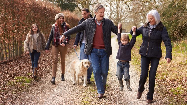 Thanksgiving 2018, family walk, thanksgiving family