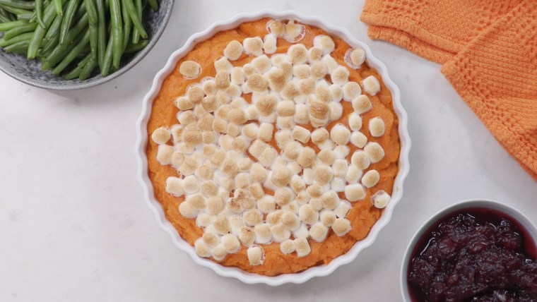 This decadent sweet potato casserole has a secret ingredient that makes it totally nutritious.