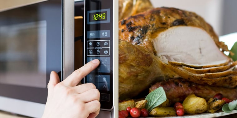 microwaving 25-lb turkey