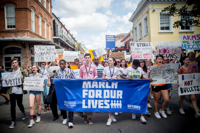 A March for Our Lives rally against gun violence in New Orleans