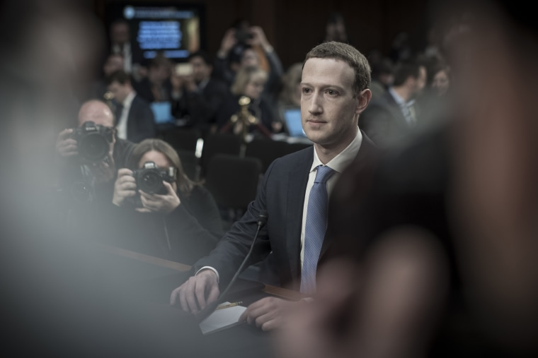 Facebook founder Mark Zuckerberg appears before a joint Senate on Capitol Hill
