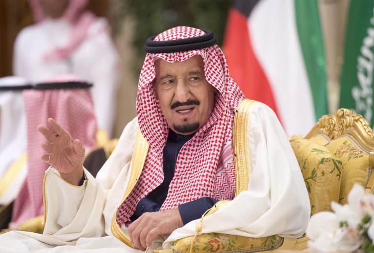 Image: Saudi Arabia's king Salman bin Abdulaziz Al Saud in Kuwait