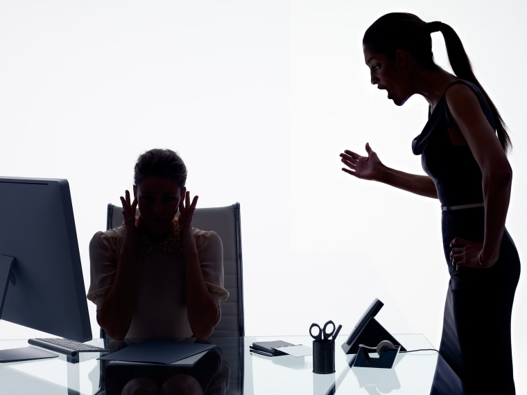 Image: workplace bullying, silhouette