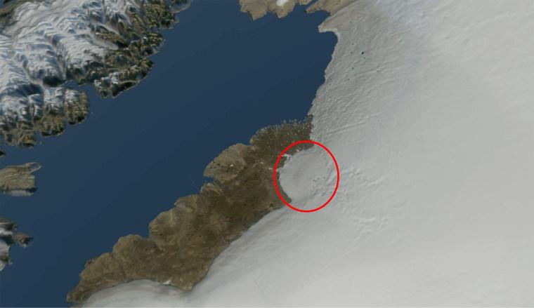 Image: Hiawatha Impact Crater