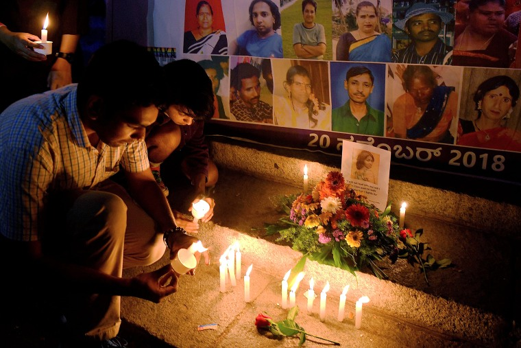 Image: Rights activists and transgender people participate in a candlelight vigil in Bangalore on Nov. 20, 2018 as part of International Transgender Day of Remembrance