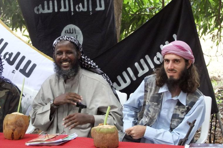 Image: Omar Hamammi, Abu Mansur Al-Amriki, Sheik Mukhtar Abu Mansur Robow